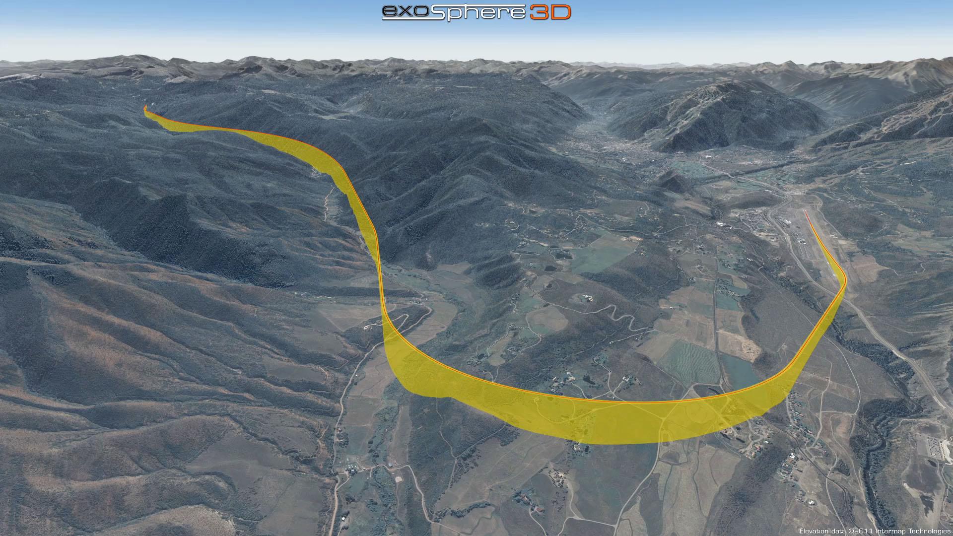 Aspen Colorado 3D Terrain Visualization - Terrain in accident ...