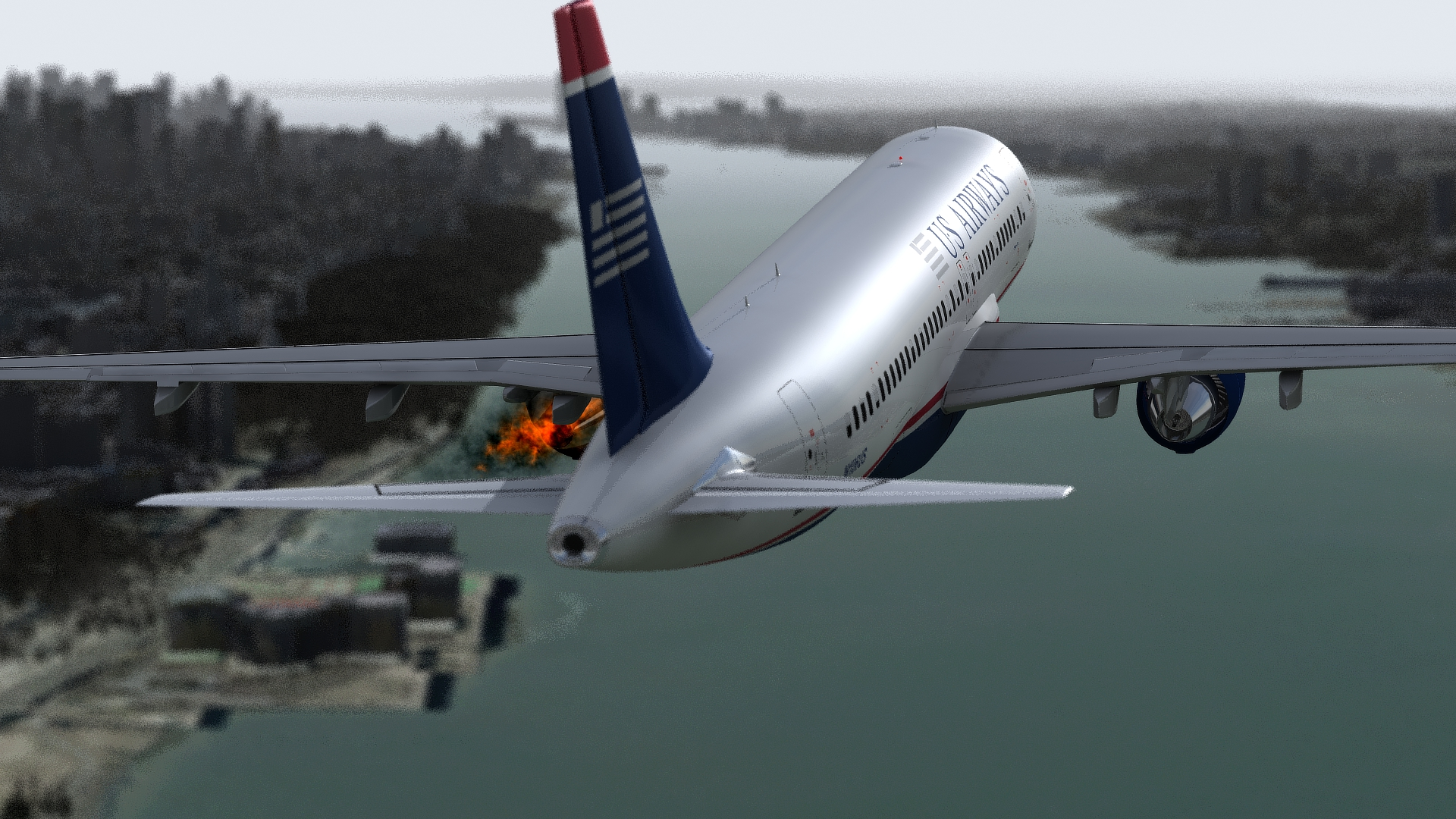 Cactus Flight 1549 Accident Reconstruction (US Airways Animation)