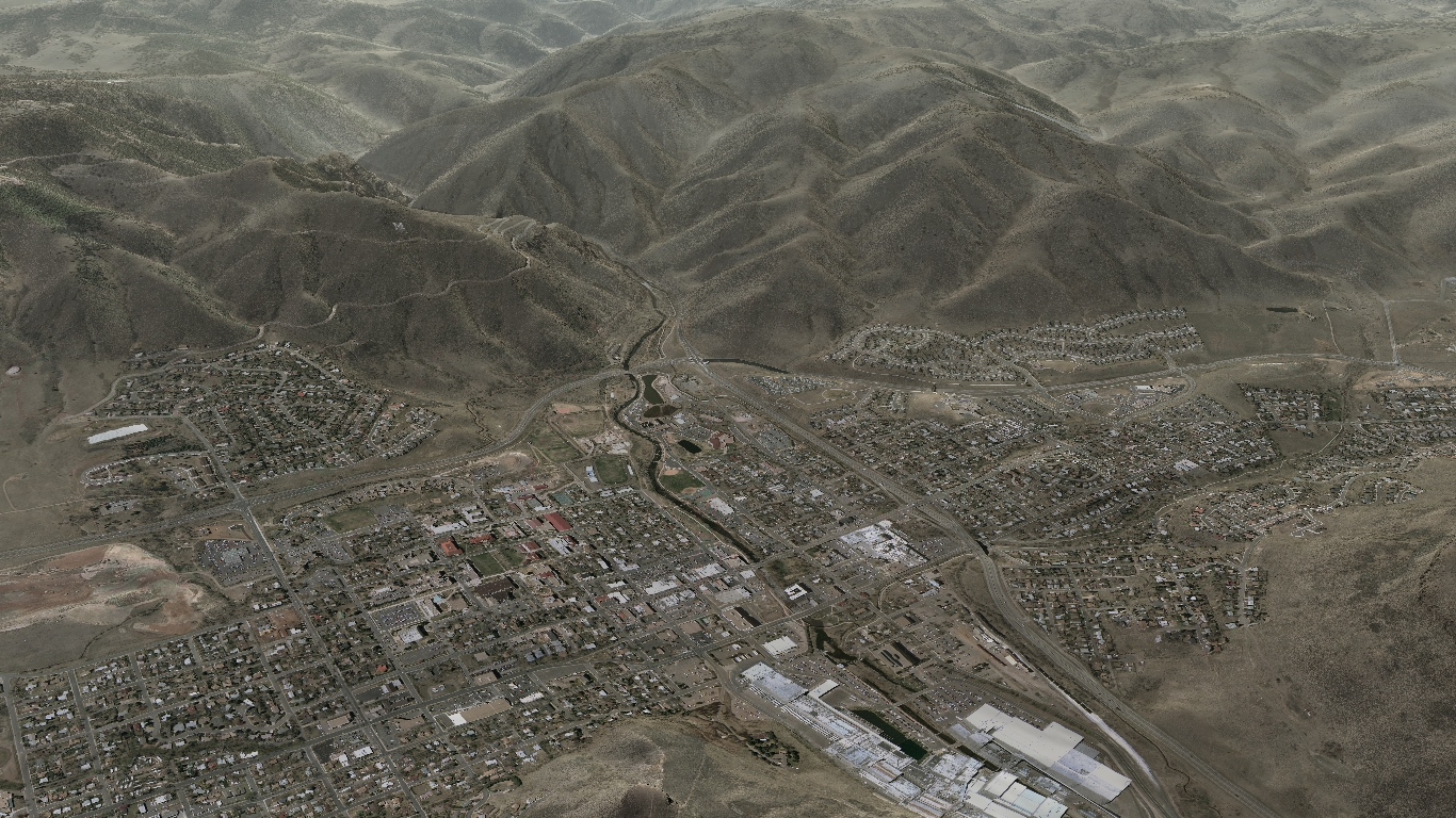 overhead view of golden colorado